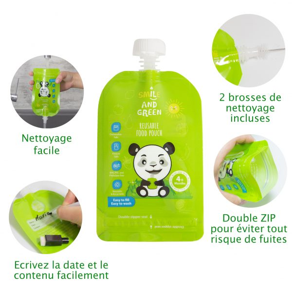 gourdes compote rechargeable