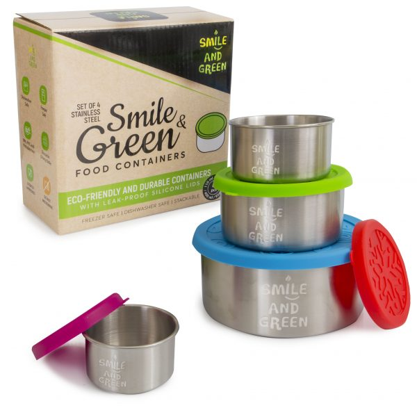 lot de 4 boites inox Smile&Green