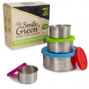 lot de 4 boites inox Smile&Green